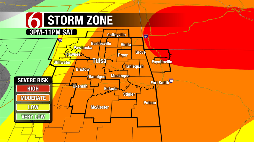 Severe Storm Threat For Saturday