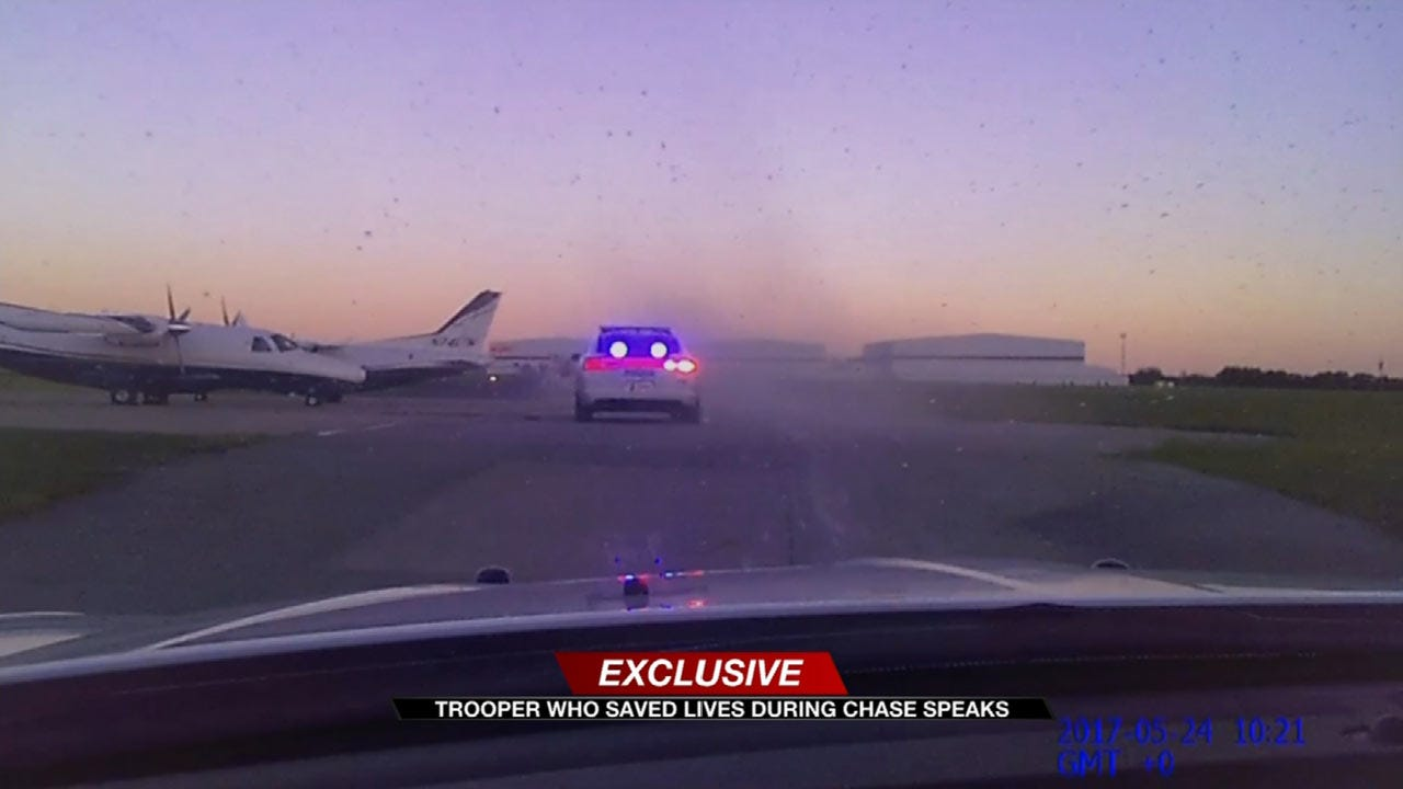 'Something Needed To Be Done:' Trooper Stops Chase Suspect From Hitting Plane