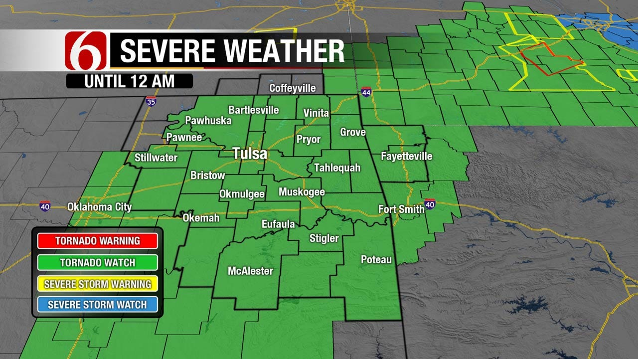 Tornado Watch Issued For Northeast Oklahoma