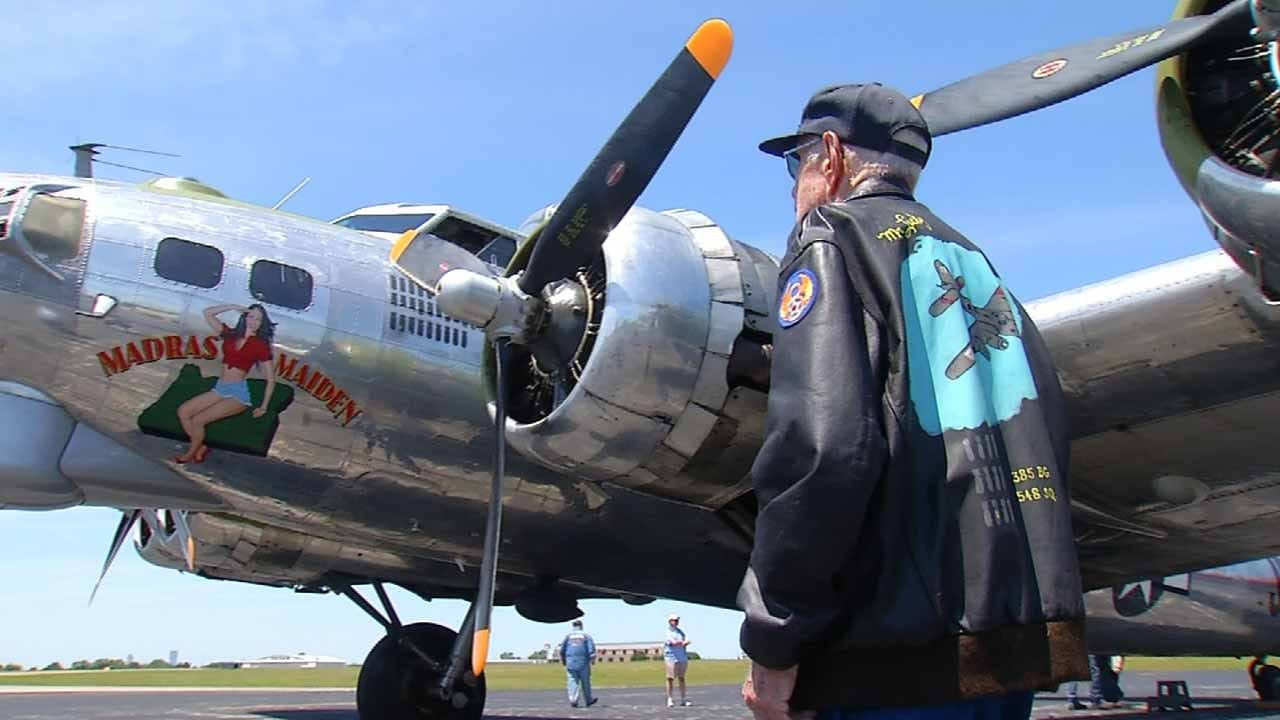 Oklahoma WWII Veteran Returns To The Sky In B-17 Bomber