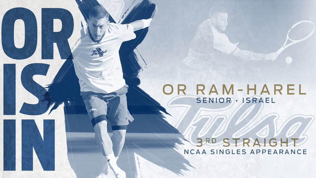 TU's Or Ram-Harel Selected To Third Straight NCAA Men's Tennis Singles Championship