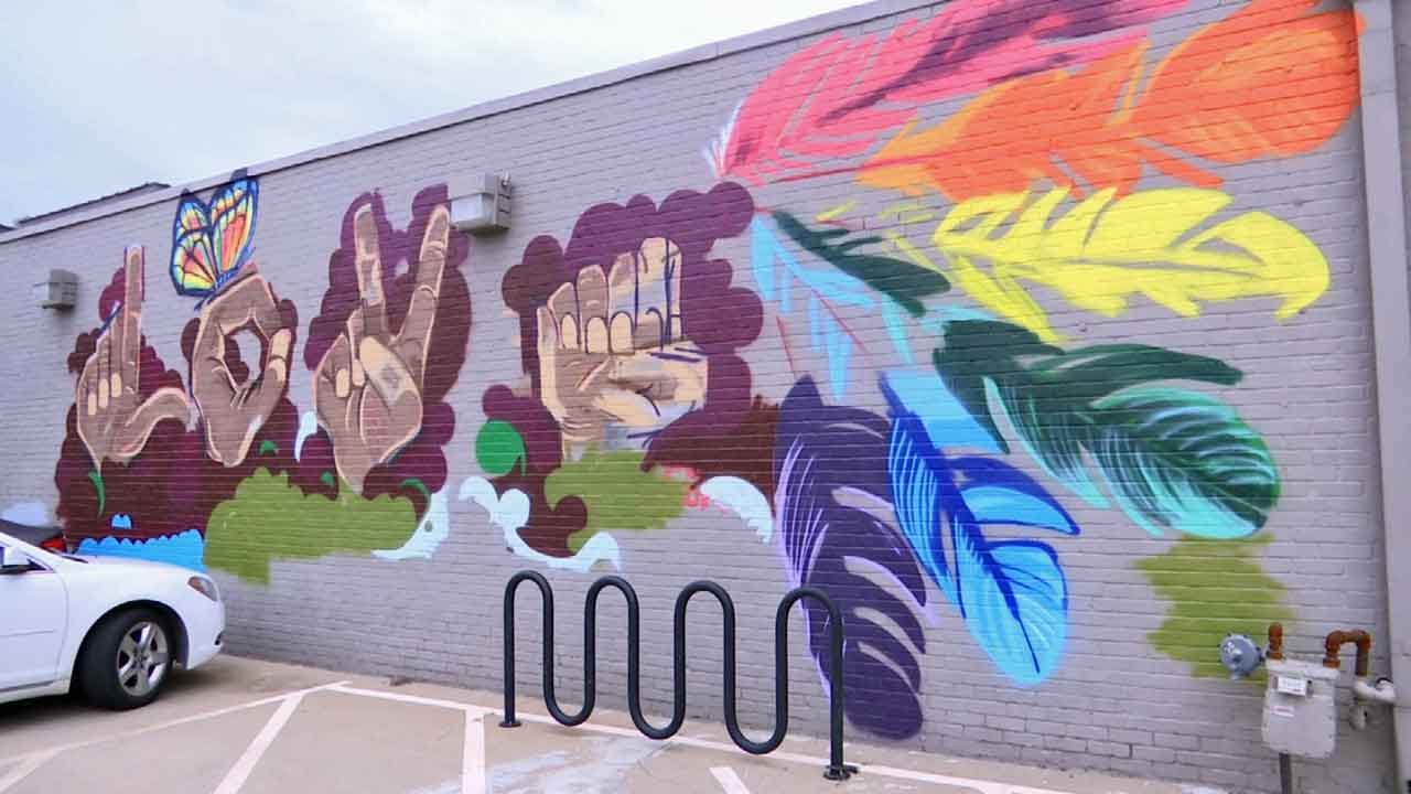 'Love' Mural Donated To Tulsa Equality Center After Vandalism