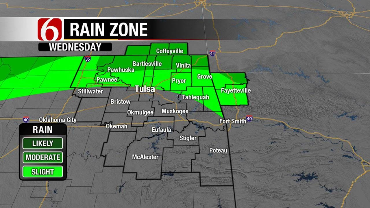 Isolated Storms Possible Across Northeast Oklahoma