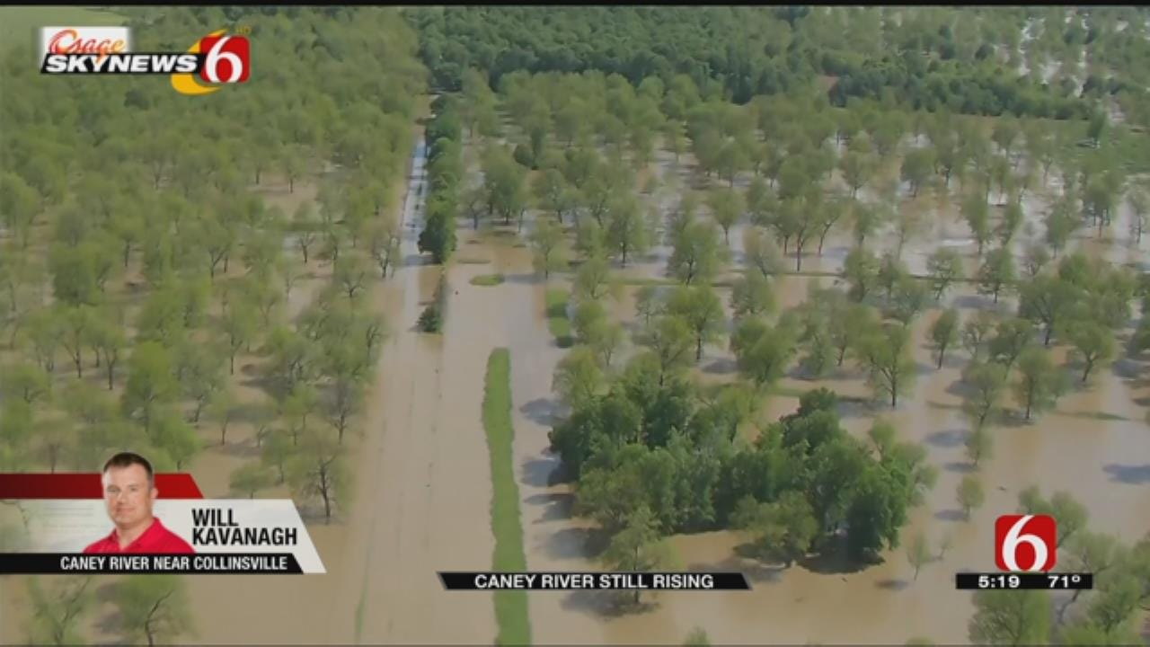 Caney River Continues To Rise
