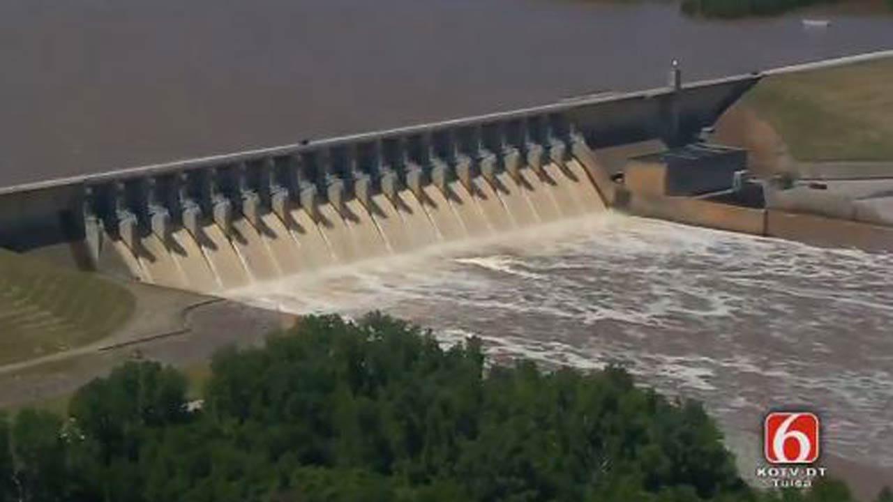 Gates Open At Keystone Dam