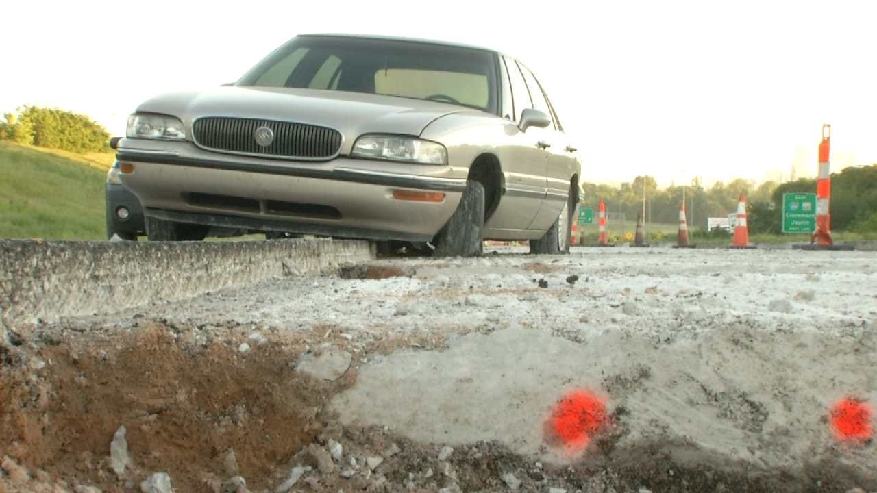 Missing Construction Cones Cause Tulsa Drivers To Crash On 75