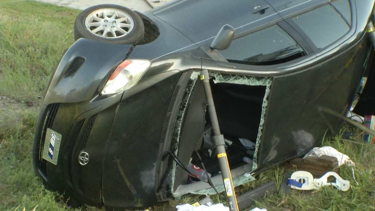 TFD Rescues Woman Trapped In Car After Crash