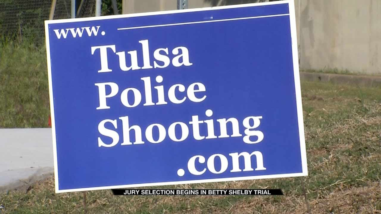Signs Of Support Pop Up For Officer Betty Shelby