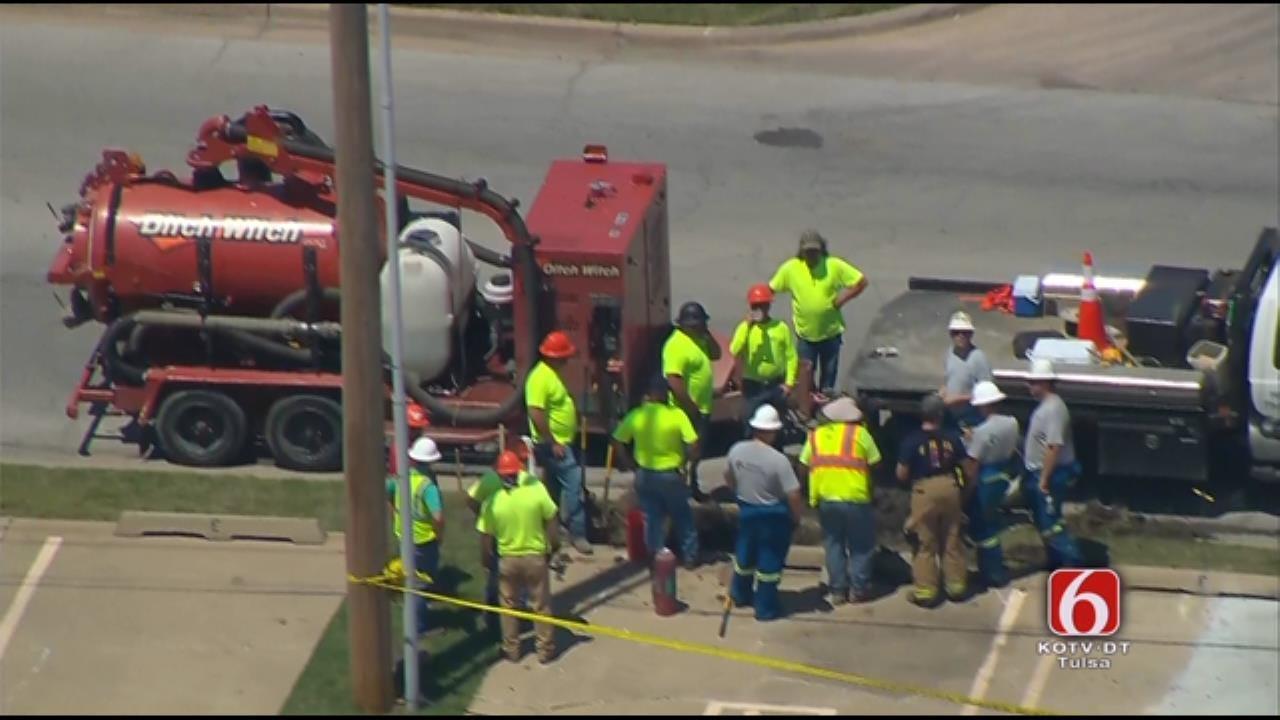 TFD Responds To Gas Leak Near 55th & Mingo