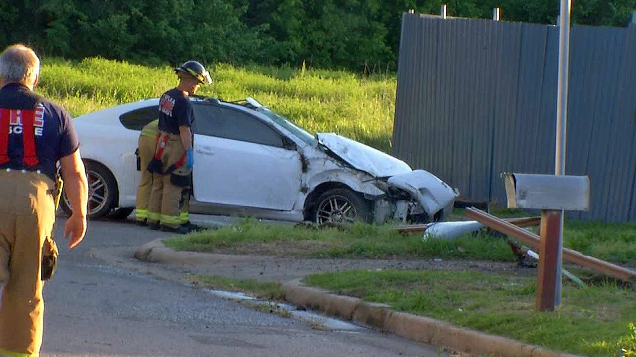 Tulsa Driver Hospitalized After Crashing Into Multiple Objects
