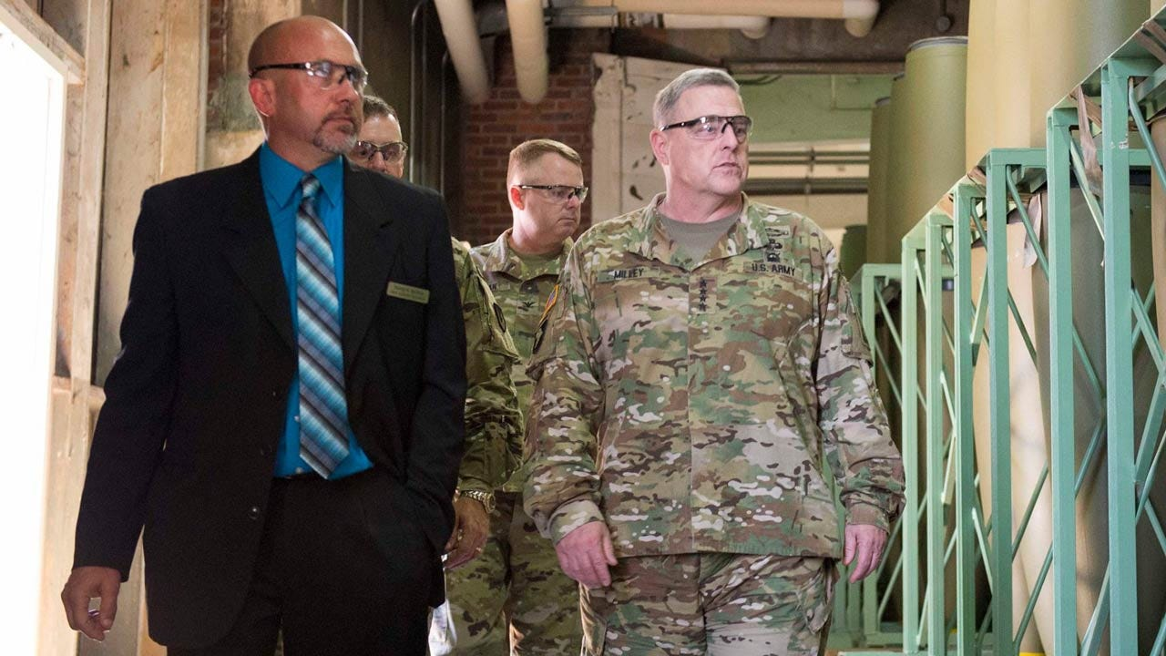 Top Army General Visits Army Ammunition Plant In McAlester
