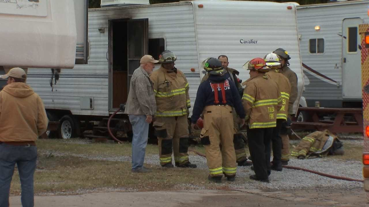 Victim Of RV Fire Revived By First Responders