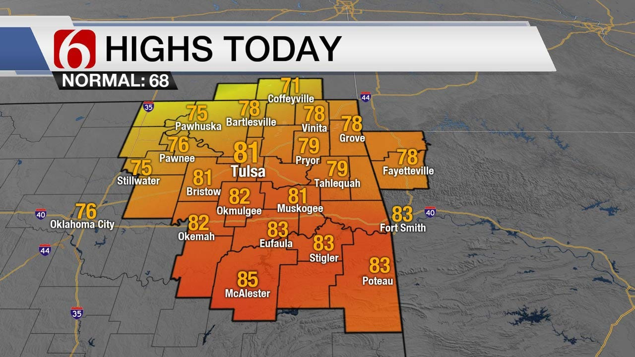Temperature Roller Coaster Continues For Eastern Oklahoma