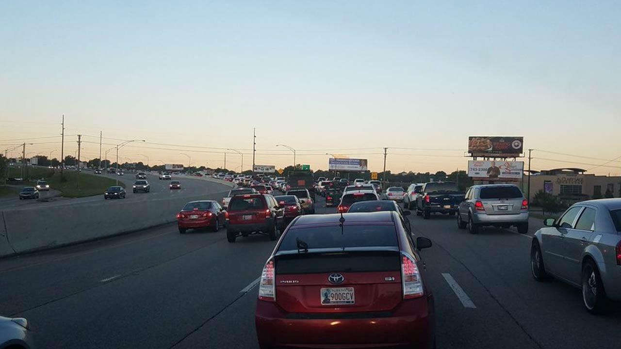 Multiple Wrecks On BA Expressway Stop Westbound Traffic