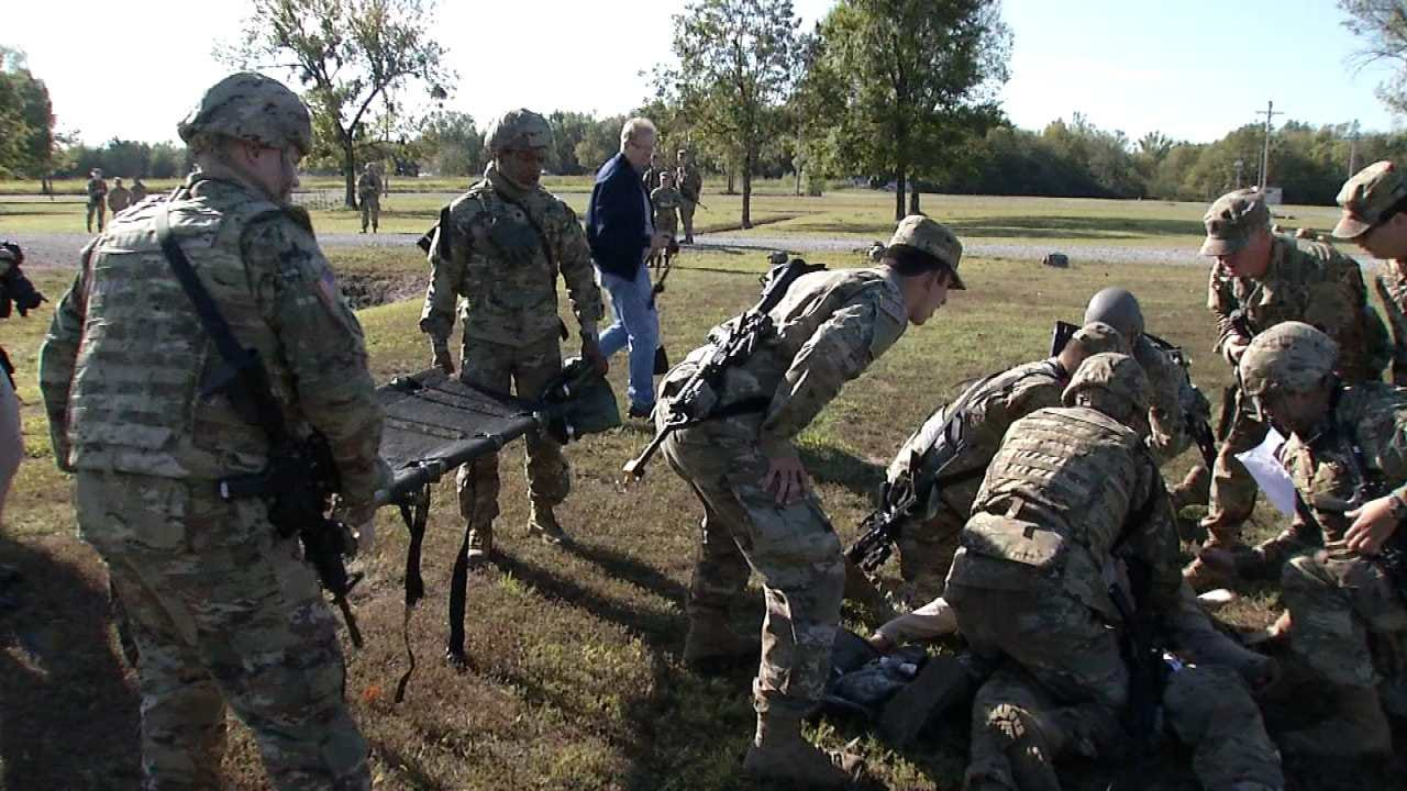 Army National Guard Training At Camp Gruber For Next Deployment