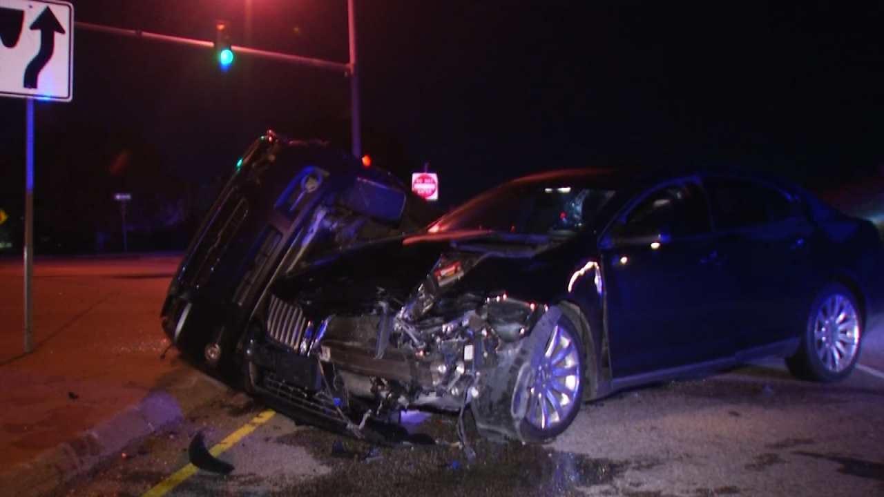Driver Injured In Tulsa Highway Crash