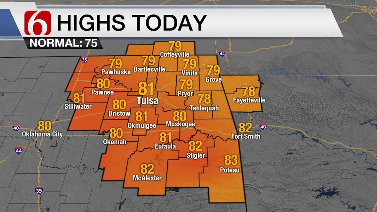 Pleasant Temps Continue Across Eastern Oklahoma