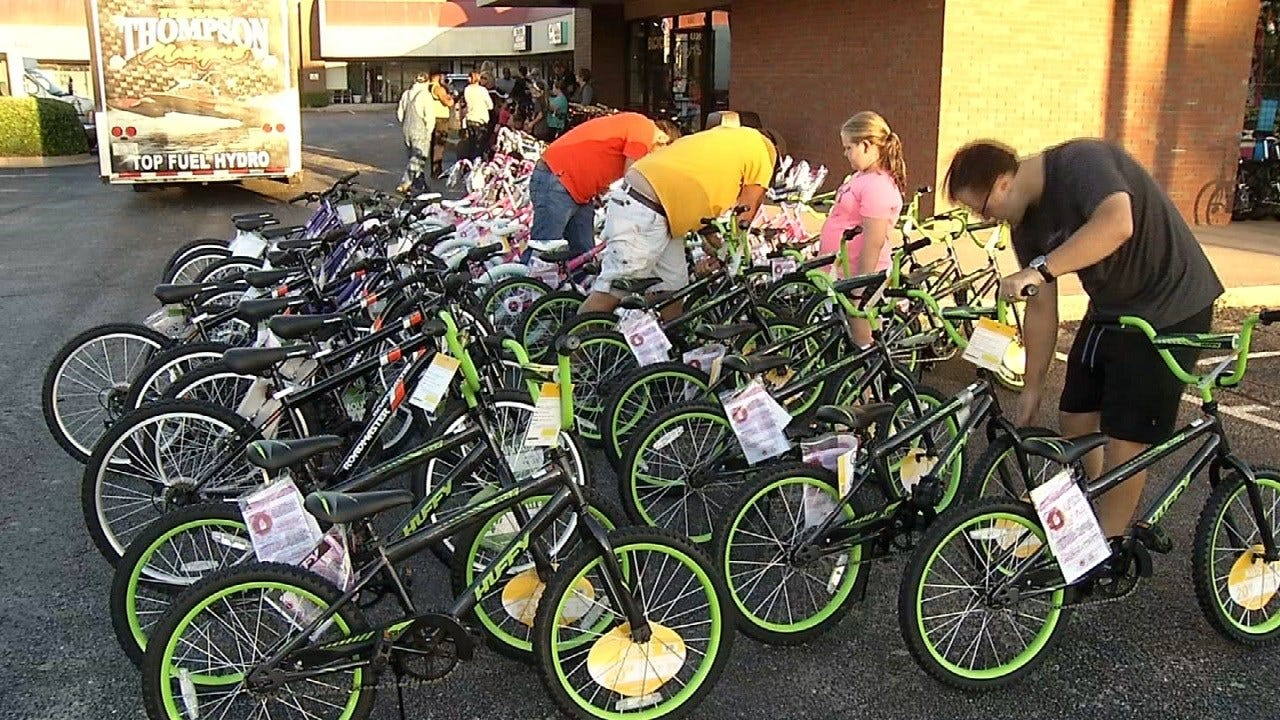 Tulsa Police Help Donate Bikes To Fight Bullying