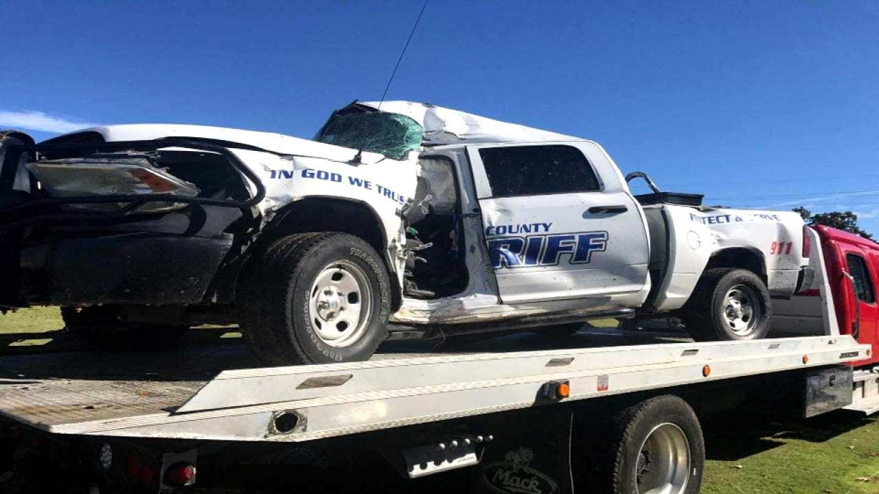 Pittsburg County Deputy Hydroplanes, Crashes Into Tree