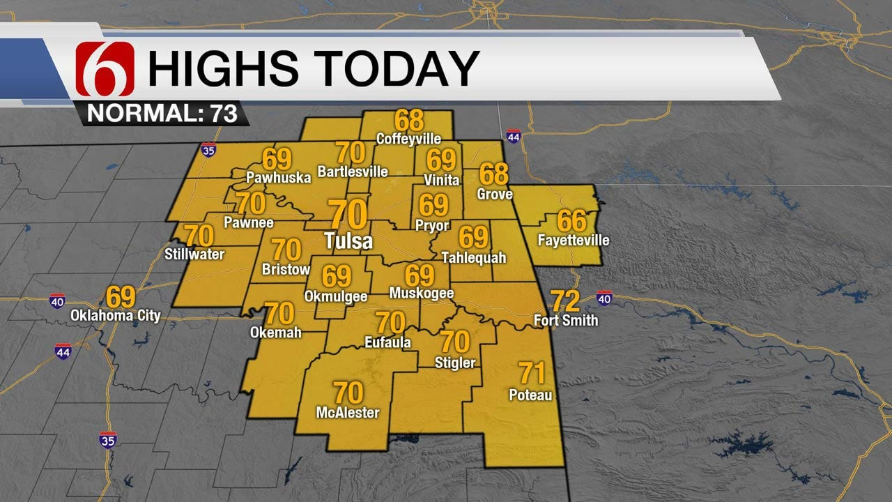 Mild, Cool Temps Across Eastern Oklahoma
