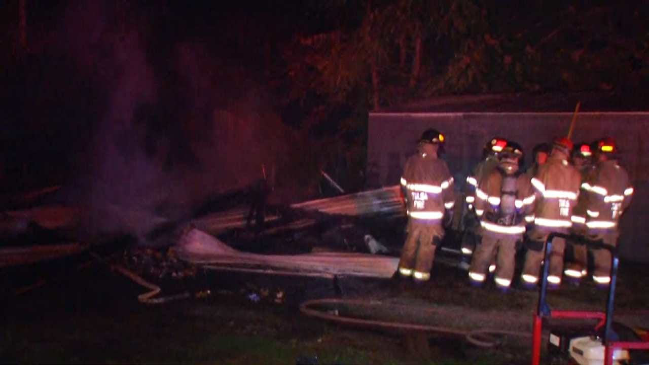 Arson Suspected In Tulsa Garage Shed Fire