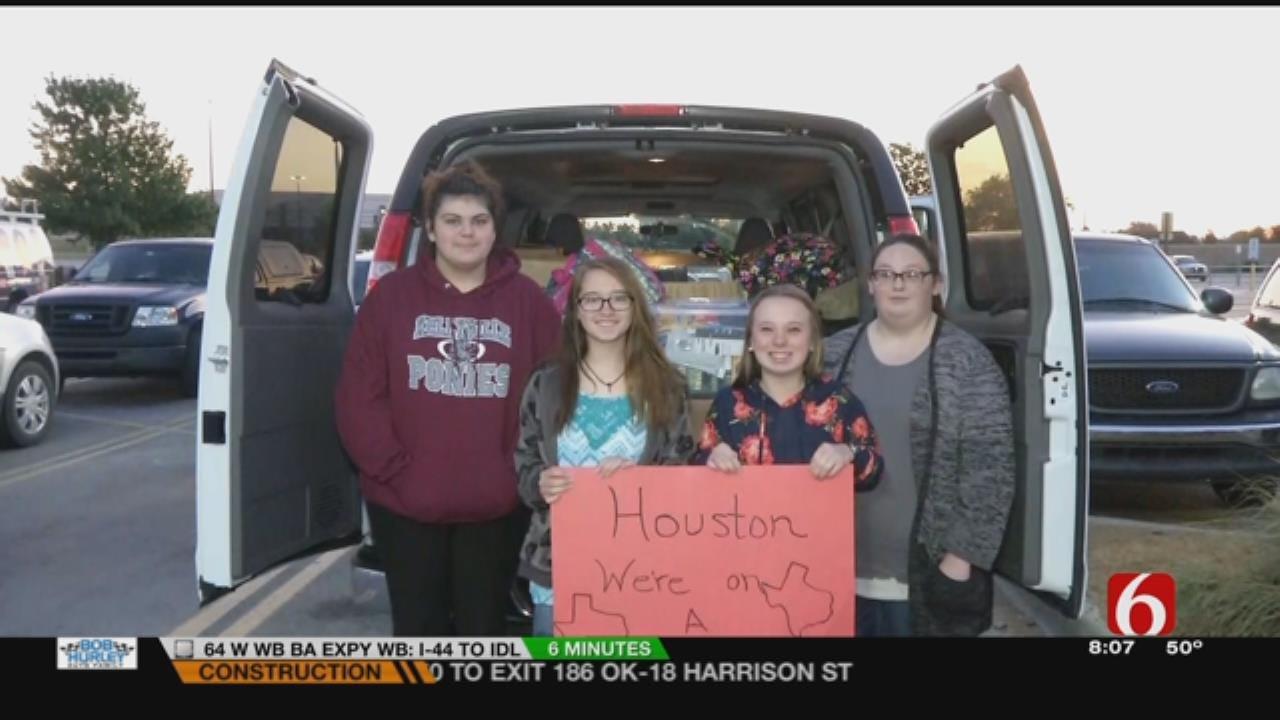Kellyville Students Spend Break Helping Hurricane Harvey Victims