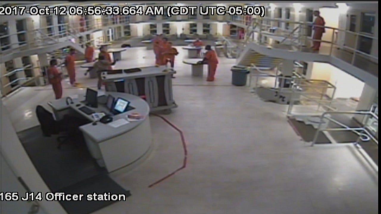 Surveillance Video, Witness Suggest Tulsa Officer Struck Inmate