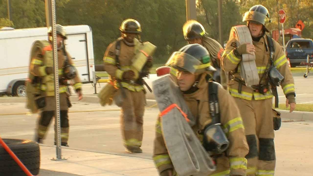 Tulsa Fire Cadets Go Through 24-Hour Training Drill