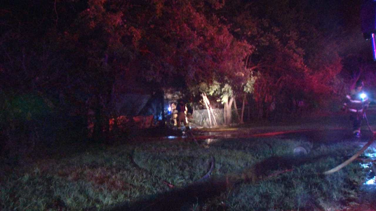 Fire Destroys Shed Behind Vacant Tulsa Home