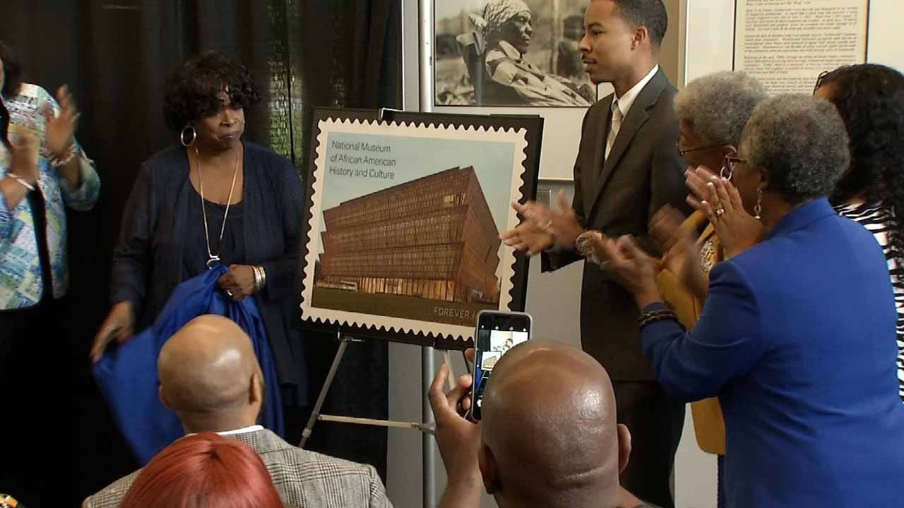 Museum Of African American History And Culture Reps. Unveil New Stamp In Tulsa