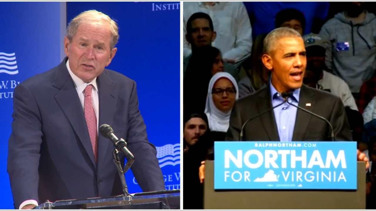 Obama, Bush React To Current State Of U.S. Politics