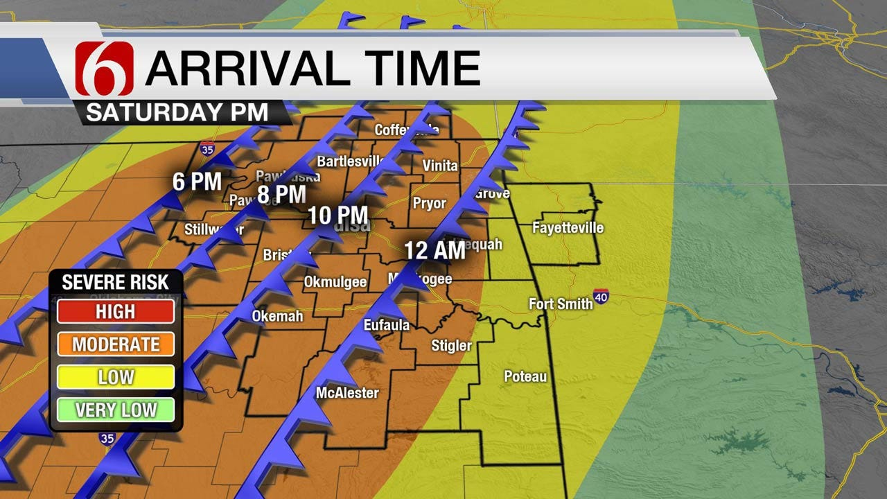 Warm Today, Storms Saturday Across Eastern Oklahoma