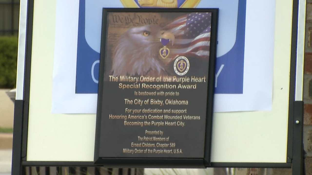Bixby To Be Named Purple Heart City