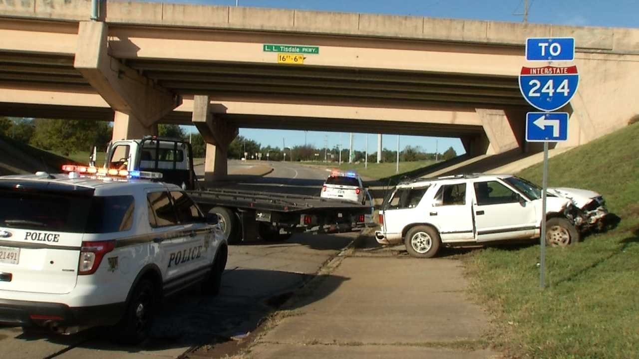 Man Falls Asleep At Wheel, Drives Off Expressway Bridge