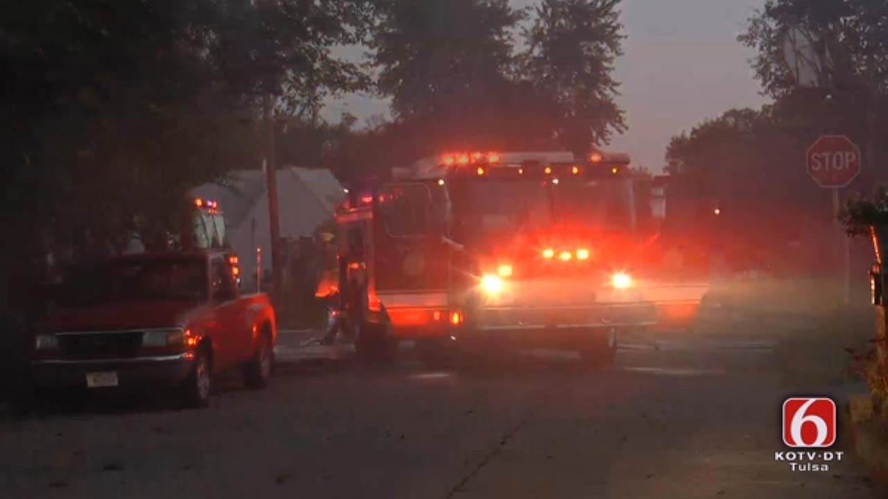 Fire Damages Tulsa Home