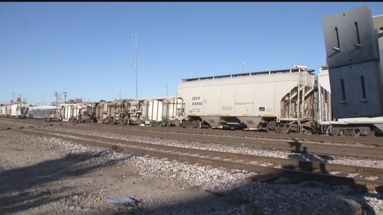 Train Derailment Blocks Three Tulsa Crossings