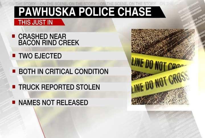 Pawhuska Police Name Two Men Injured In Pursuit