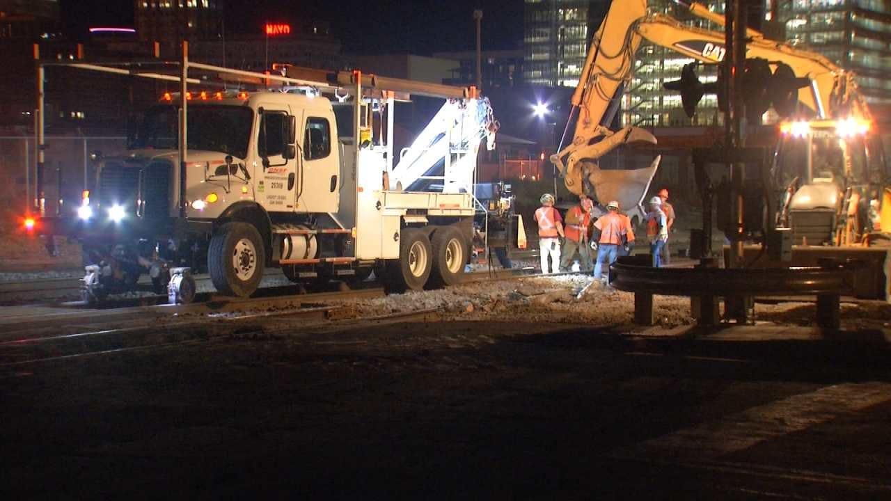 Repairs Continue Following Tulsa Train Derailment