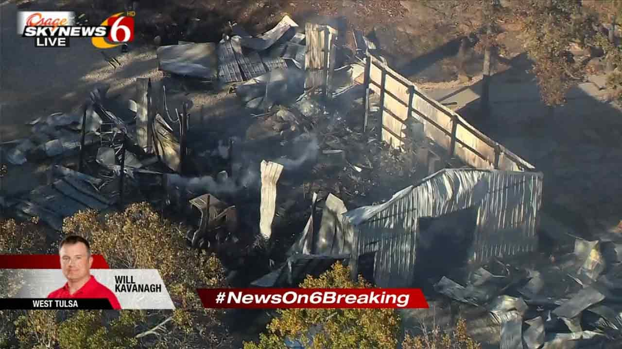 Storage Facility Destroyed In Tulsa Fire