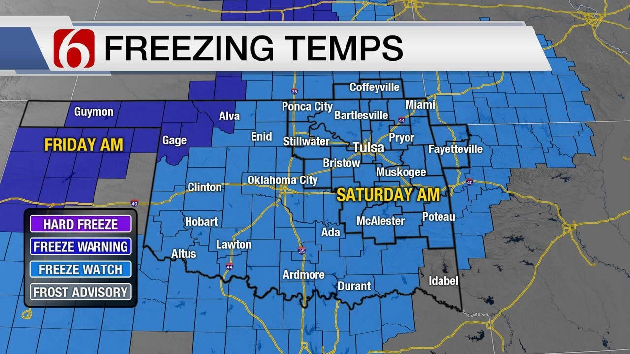 Strong Cold Front Headed To Eastern Oklahoma