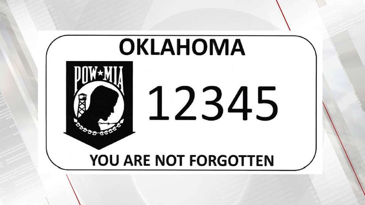 POW/MIAs Get Support From New Oklahoma License Plates