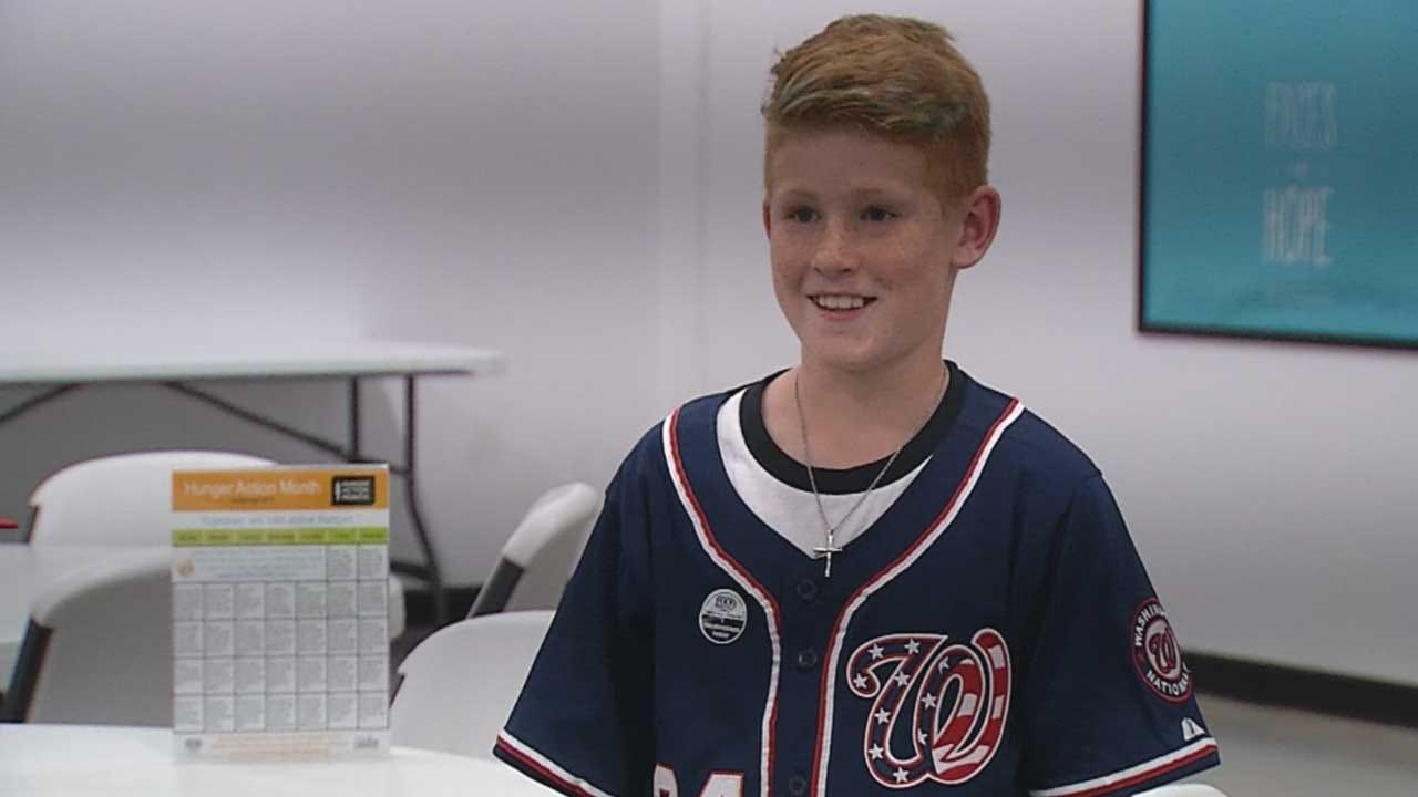 11-Year-Old Oklahoma Boy Spends Birthday Volunteering At Food Bank