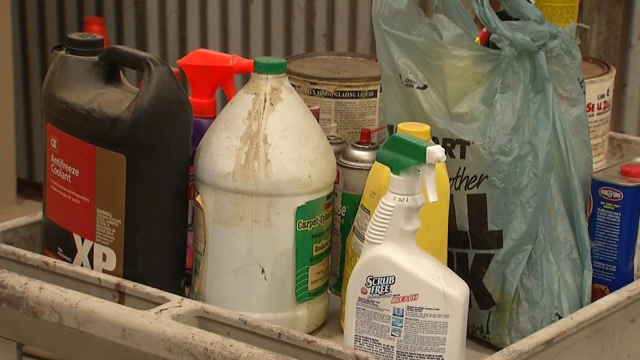 City Of Tulsa Holding Household Pollutant Disposal Special Event
