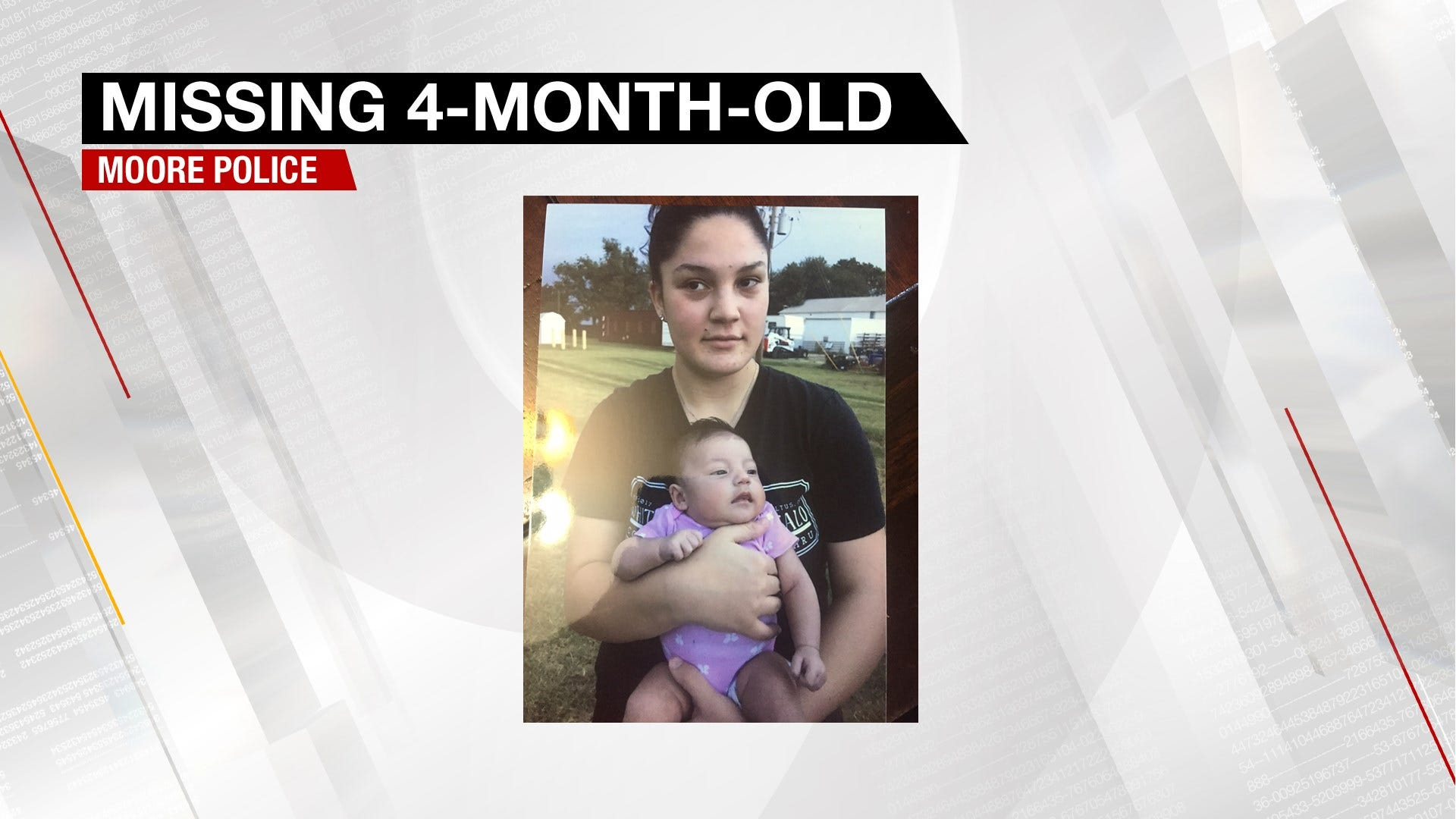 Missing 4-Month-Old Reported By Moore Police