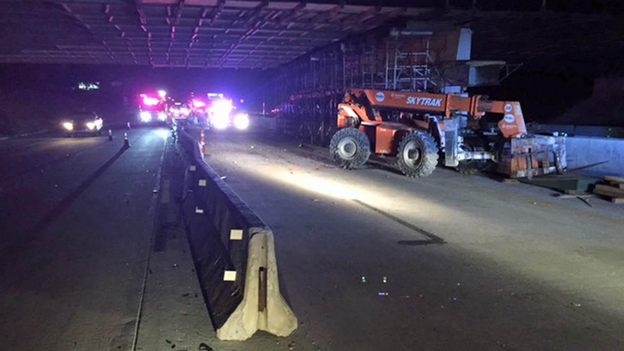 Wrong-Way Driver Hits Construction Equipment On Tulsa Highway