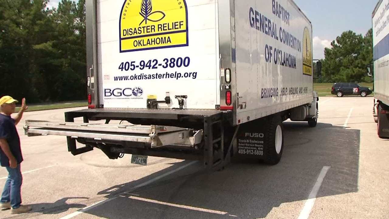 Oklahoma Baptist Disaster Relief Organization Leaves For Texas