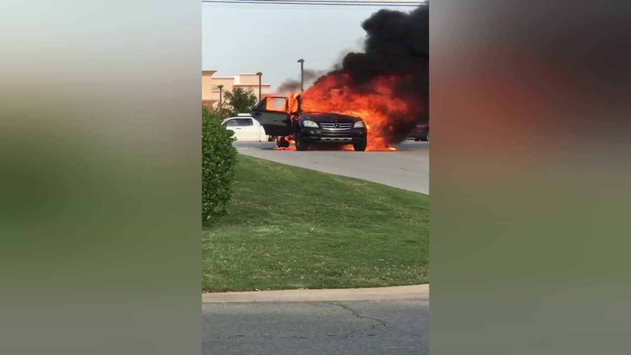 Tulsa Car Fire