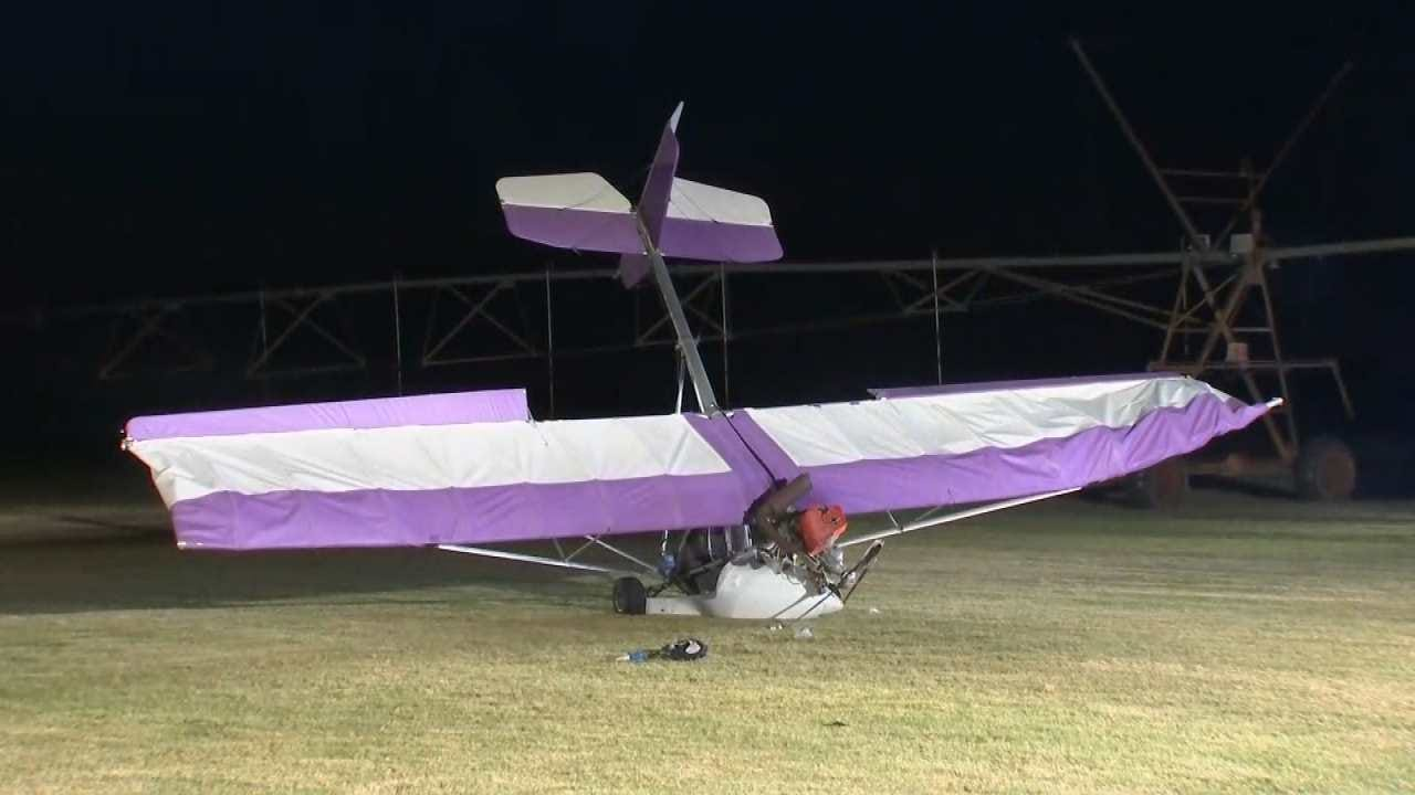 Pilot Injured When Ultralight Crashes West Of Coweta