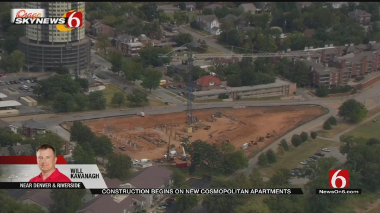 The Cosmopolitan Apartments Going Up Near Tulsa's Gathering Place