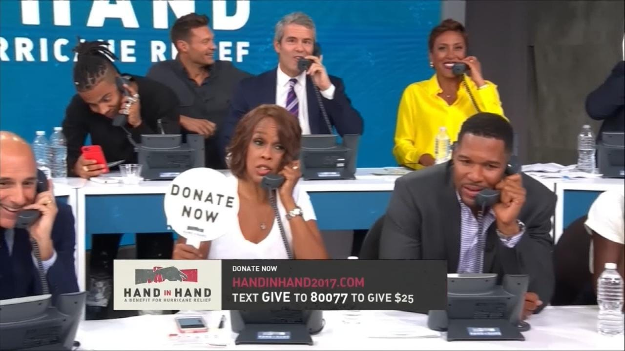 More Than $14.5M Raised In 'Hand In Hand' Hurricane Harvey Benefit